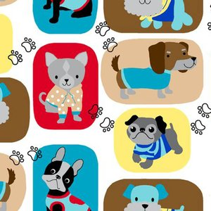 Comfy Patchwork Dogs Flannel