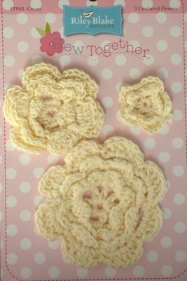 Crochet Flowers - Cream