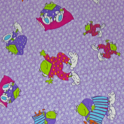 Slumber Party Frogs Flannel