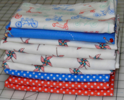 Remnant Bundle - Children at Play Flannel-flannel fabric remnant bundle michael miller children at play sarah jane