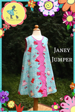 Pattern - Janey Jumper by Cottage Mama-sewing pattern janey jumper dress cottage mama