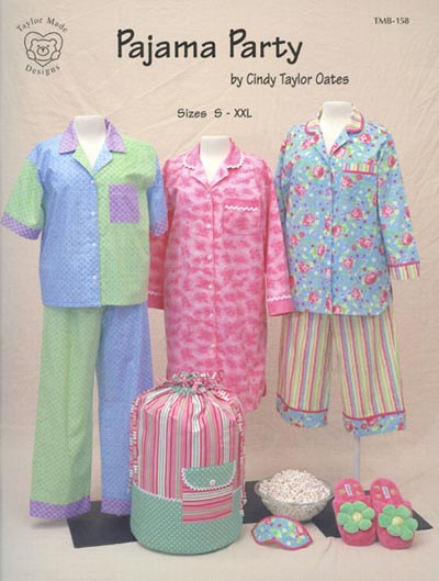 Pattern Book - Pajama Party by Cindy Taylor Oates-pajama party for Kids by Cindy Taylor Oates Sewing Pattern Book tmb-158