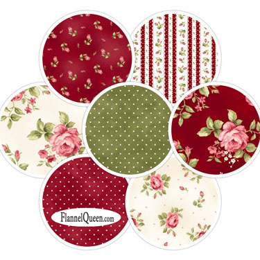 Fat Quarter Bundle - Welcome Home Red Cream Flannel by Maywood Studios
