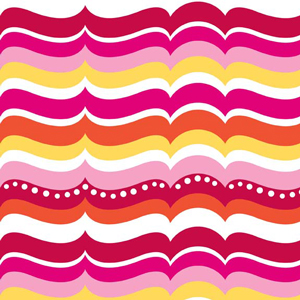 Turtle Waves Pink Flannel-Alpine Flannel Fabric Turtle Wave F2077 Pink Orange Yellow