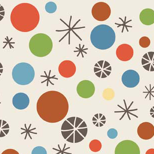 Scoot Dots Cream Flannel-riley blake designs flannel fabric deena rutter scoot cream 2722 dots