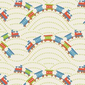 Scoot Train Cream Flannel-riley blake designs flannel fabric deena rutter scoot cream 2725 train
