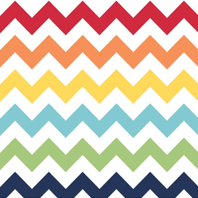 Riley Blake Flannel Basics Medium Chevron Rainbow