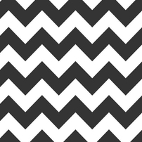 "Riley Blake Flannel Medium Chevron Black - 14"" Remnant"