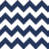 "Riley Blake Flannel Medium Chevron Navy - 12"" Remnant"