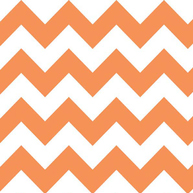 Riley Blake Flannel Basics Medium Chevron Orange