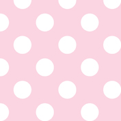 Riley Blake Flannel Basics Medium Dots Baby Pink