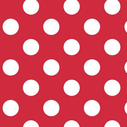 Riley Blake Flannel Basics Medium Dots Red