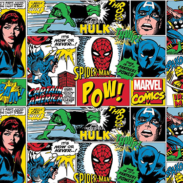 Marvel Comic Strip Characters Flannel 13020465B