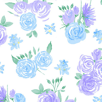 Comfy Blue Purple Roses Flannel