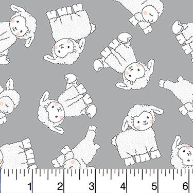 Comfy Nursery Little Lamb Gray Flannel