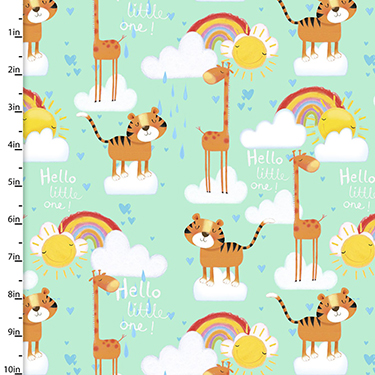 Welcome to the Jungle Giraffe Tiger Flannel