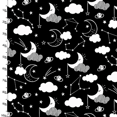Don't Forget to Dream Night Sky Flannel