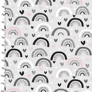 Don't Forget to Dream Rainbow Hearts Flannel