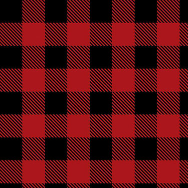 Buffalo Plaid Red Black Camelot Flannel