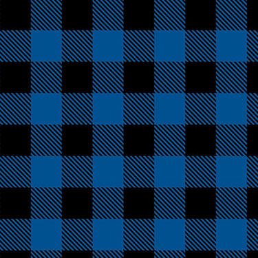 Buffalo Plaid Blue Black Camelot Flannel