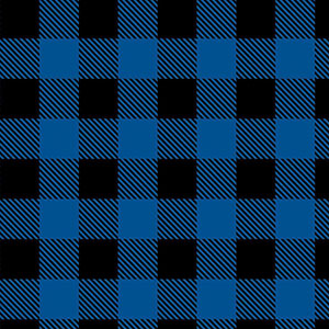 Buffalo Plaid Blue Black Camelot Flannel