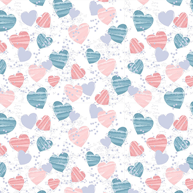 Mommy and Me Hearts 16534-WHT Flannel