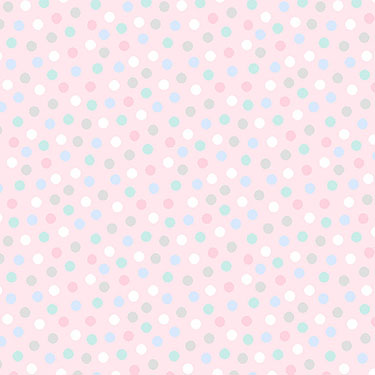Snuggle in the Jungle Dot Light Pink Flannel