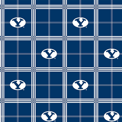 BYU Brigham Young University Plaid Flannel