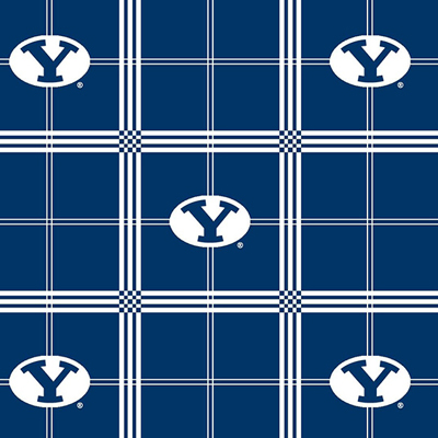 BYU Brigham Young University Plaid Flannel