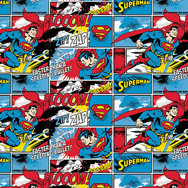 Superman Zip Zap Flannel
