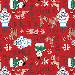 Rudolph the Red Nosed Reindeer Characters Flannel