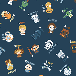 Star Wars Alphabet Toss Flannel