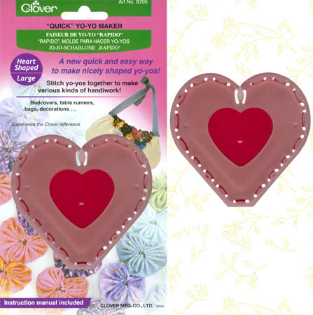 Clover Quick YO YO MAKER Large Heart 8705