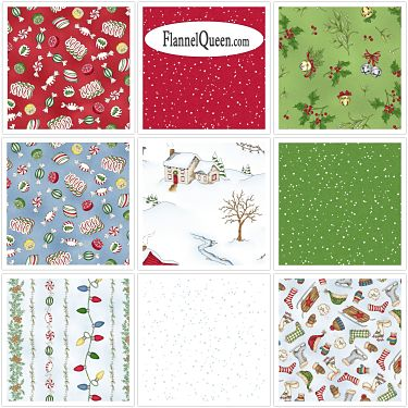 FQ Bundle - Christmas Joys Flannel by Maywood Studio