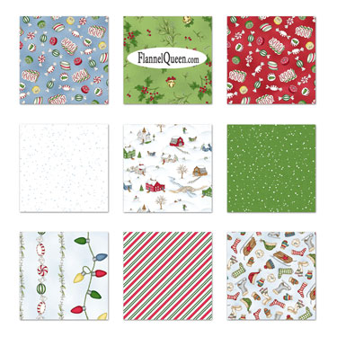 Fat Quarter Bundle - Christmas Joys Flannel by Maywood Studio