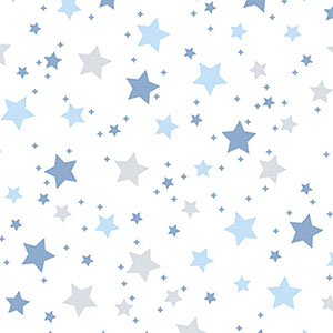 Dreamtime Star Light Blue Gray Flannel