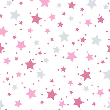 Dreamtime Star Light Pink Gray Flannel