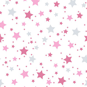 Dreamtime Star Light Pink Gray Flannel