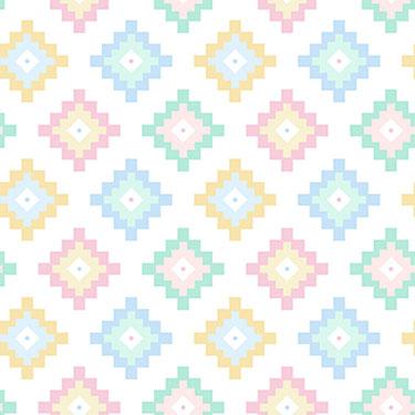Dreamtime Pastel Diamonds Flannel
