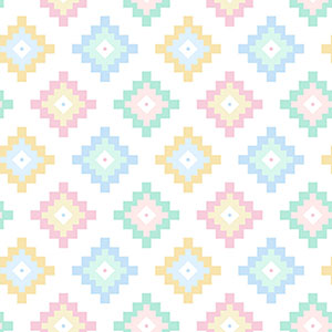 Dreamtime Pastel Diamonds Flannel