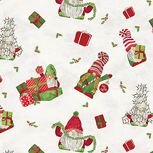 Gnome for Christmas Main Parchment Flannel F10610