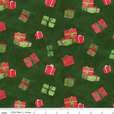 Gnome for Christmas Presents Green Flannel F10611