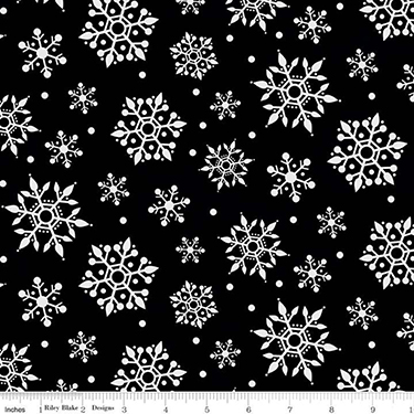 Gnome for Christmas Snowflake Black Flannel F10612