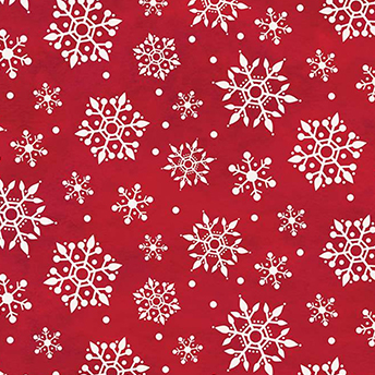 Gnome for Christmas Snowflake Red Flannel F10612