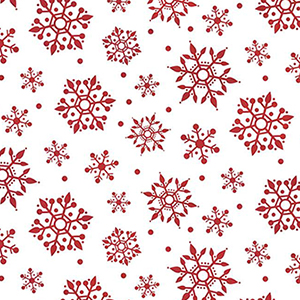 Gnome for Christmas Snowflake White Flannel F10612