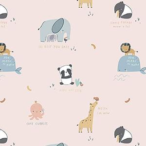 Cute Cuddles Blush Flannel F10623