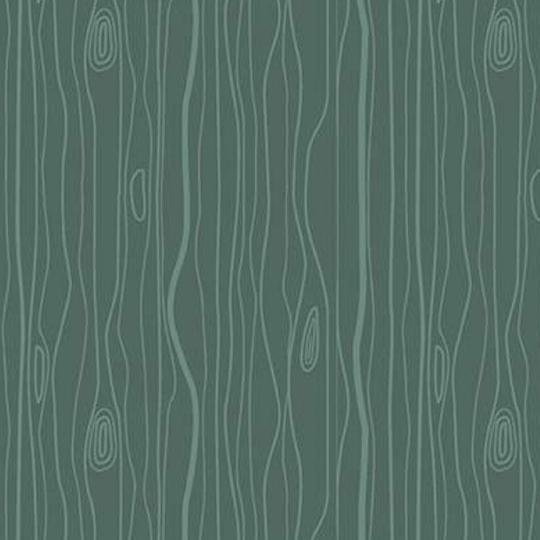 Woodland Wood Grain Green Flannel F10633
