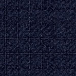 Woolen Flannel Plaid Navy Flannel F10640
