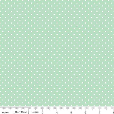 Riley Blake Swiss Dot Mint Flannel F670