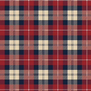 Riley Blake Plaid Red Navy Flannel F7775